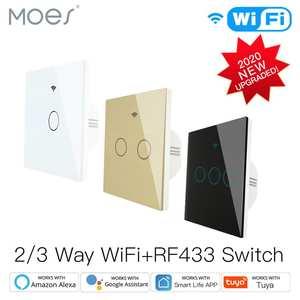 Smart-Touch-Switch Voice-Control RF433 Alexa Wifi Smart-Life/tuya Google Home 1/2/3-gang