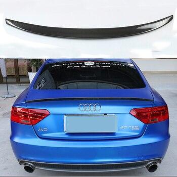 For Audi A5 Carbon Fiber Rear Spoiler Wing 4-Door Sedan 2009 - 2016 S5 Style Trunk Lid carbon fiber rear trunk spoiler for bmw 5 series e60 base sedan m tech m5 2004 2009 rear trunk wing spoiler boot lip