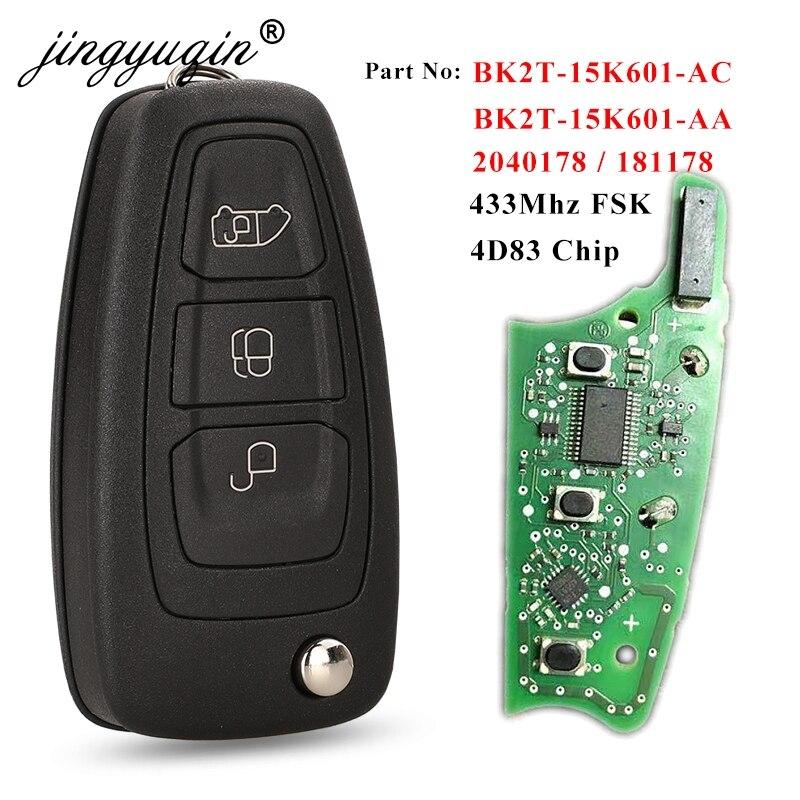 Jingyuqin оригинальные ключи для Ford Transit /Transit Custom 2015 2016 + дистанционный флип-ключ Fob BK2T-15K601-AA/ AC 434MHz 4D +(83) чип