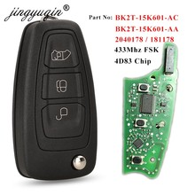 Jingyuqin llaves originales para Ford tránsito/Tránsito de 2015 + 2016 Flip remoto clave Fob BK2T-15K601-AA AC/AC 434MHz 4D +(83) Chip