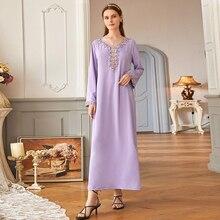 Hijab Dress Clothing-Dresses Turkey Musulman Purple Abaya Dubai Islam Muslim Fashion