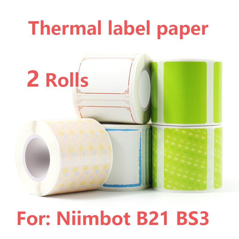 Niimbot B21 B3S Self-Adhesive Paper thermal Label paper sticker paper 60 X 40 labels self adhesive sprocket printer stickers