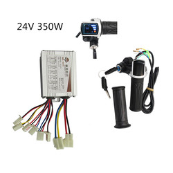 Electric Bike Scooter Accessories Motor Brushed Controller & Throttle Twist Grip 24V 350W For Electric Scooter Bicycle Bike