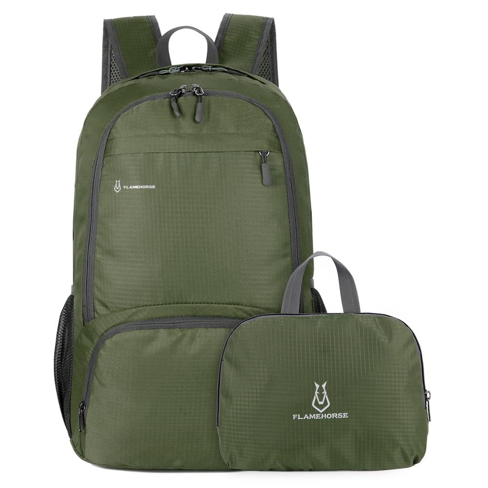Lightweight Foldable Outdoor Backpack Men Women Shoulders Bag Waterproof Packable Backpack Travel Hiking Cycling Camping Daypack