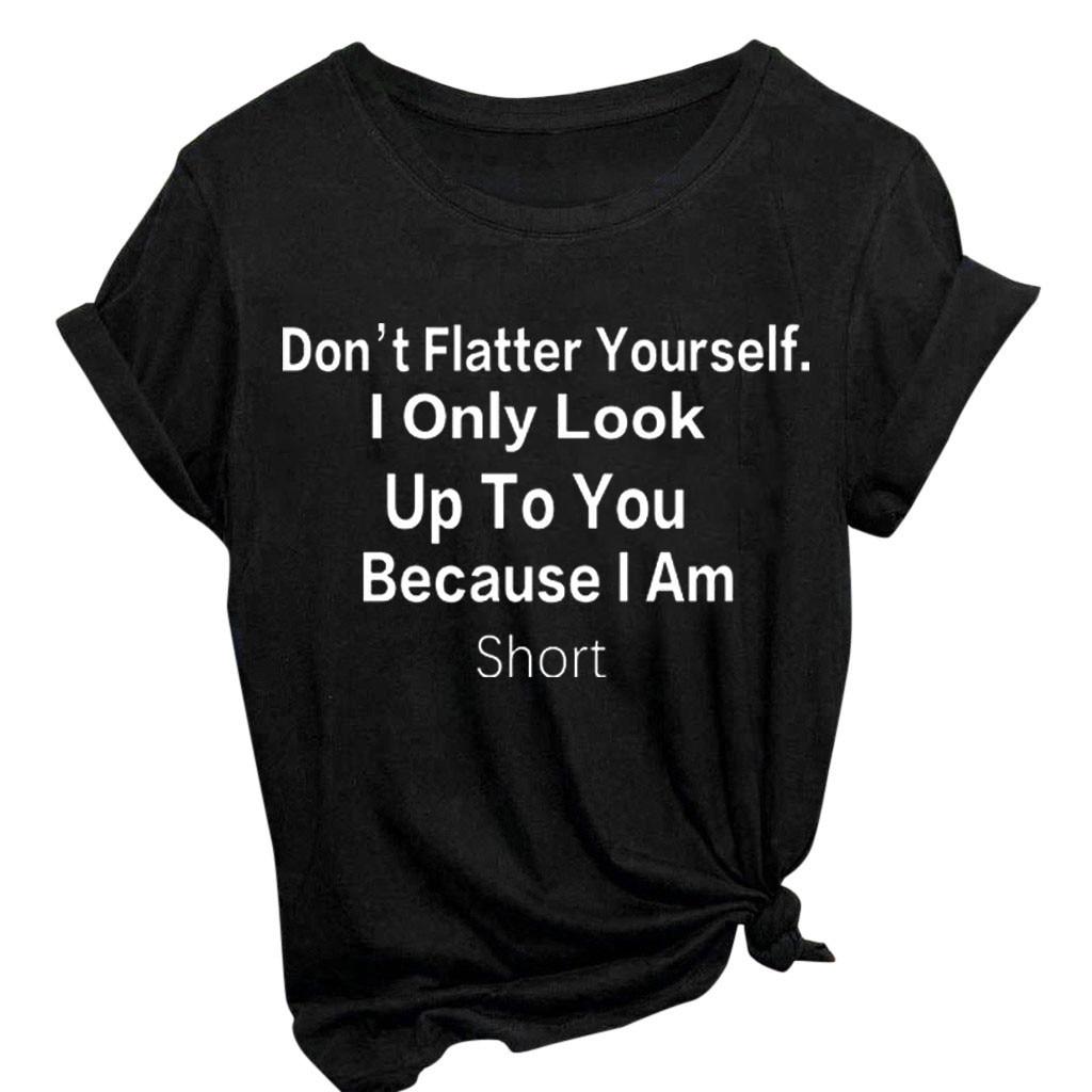 Womens Jerry Hand Short-Sleeve Crewneck T-Shirt Print Tees Shirt Short Sleeve T Shirt Blouse Tops Black