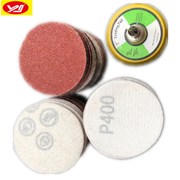 Cross Border For 2-Inch 50 Mm 102 Pieces Flocked Sandpaper Suit 2-Inch Flocking Sandpaper Pieces Manufacturers