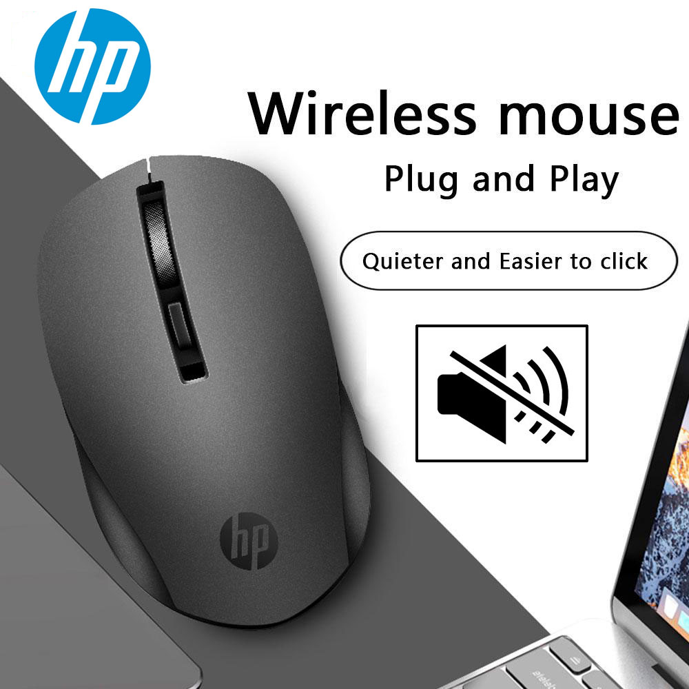 HP Silent Wireless Mouse 1600dpi Ergonomic 2.4G Mause USB Optical Portable Mini Wireless Mouse for PC Computer Laptop Mice(China)