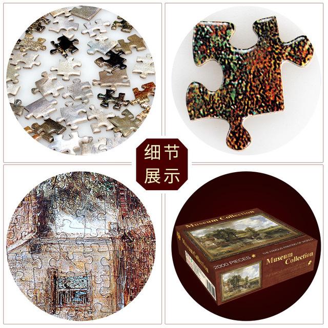 puzzle 2000 pieces 70*100 cm Famous Painting of World Adult puzzles Kids DIY Jigsaw Puzzle Creativity Imagine Educational Toys