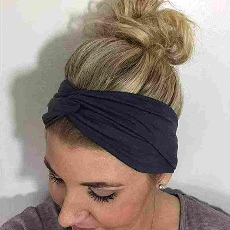Leopard Striped Yoga Headband Elastic Knotted Stretch Hair Band Casual Turban N0