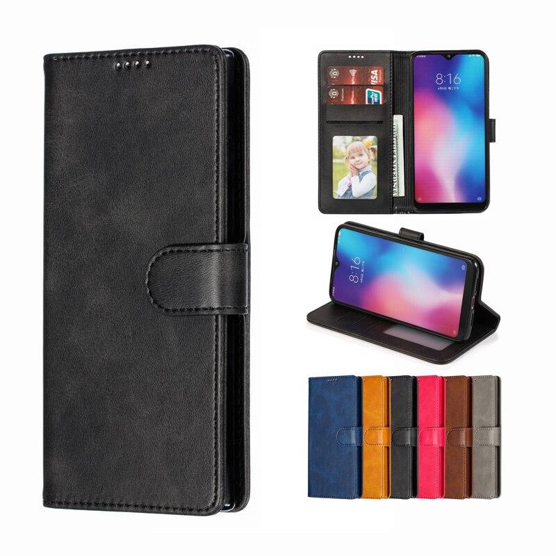 Cover Case For Xiaomi Mi 9 SE Cases Magnetic Flip With Card Slot Wallet Plain Vintage Leather Phone Bag For Xiomi Mi 9 9se Coque