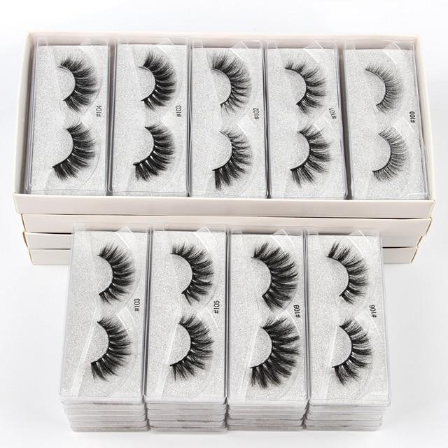 10 pairs faux mink eyelashes bulk wholesale natural long false eyelash extension 3d lashes eye fluffy soft fake cilios makeup 2