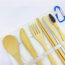 Zero waste bamboo tableware biodegradable disposable cutlery Eco friendly set