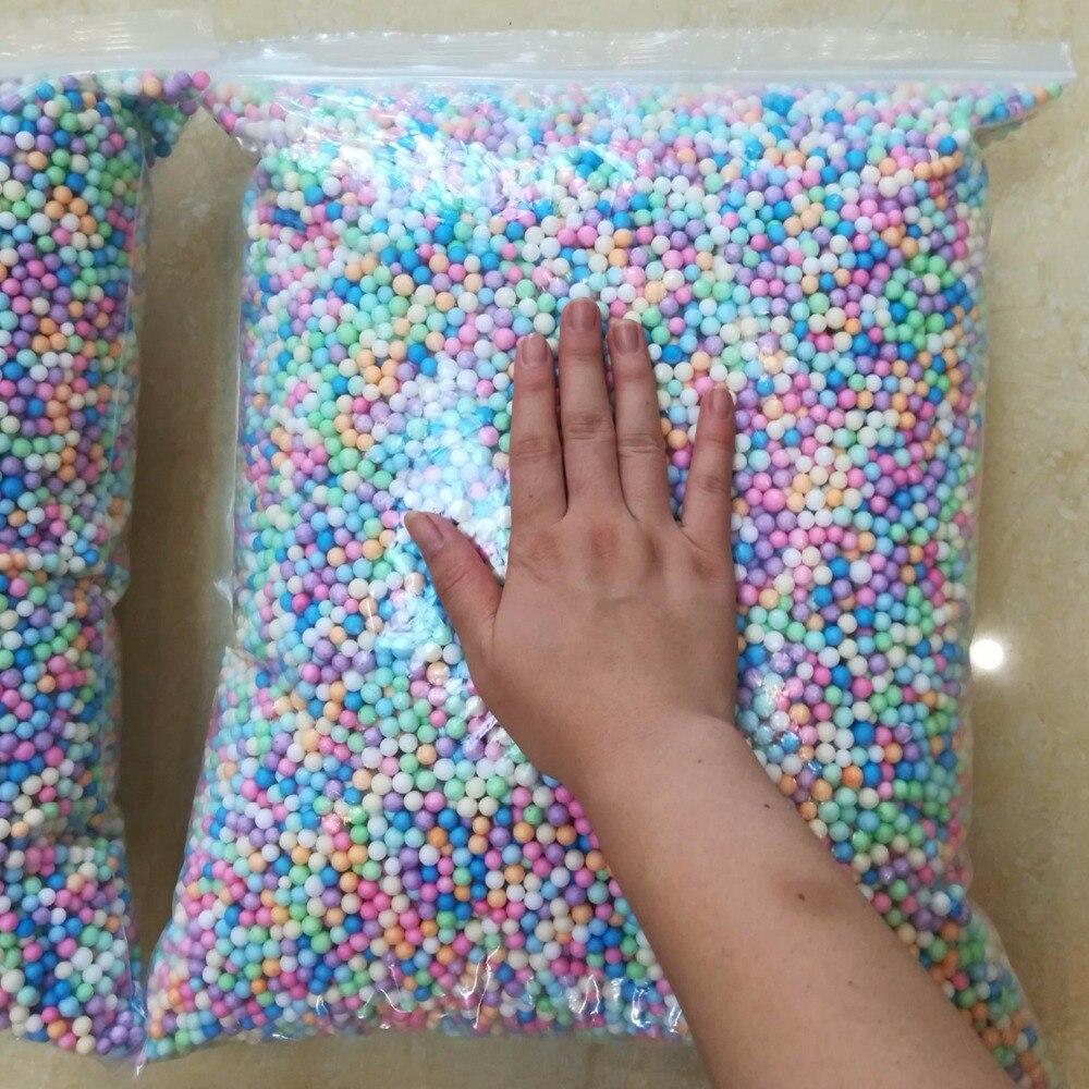 250g 7-9mm Polystyrene Styrofoam Filler Balls Bottle DIY Snow Mud Particles Accessories Slime Balls Small Tiny Foam Beads