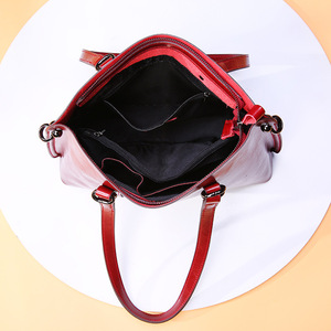Image 5 - DIENQI Saffiano bags ladies genuine leather shoulder bag female luxury women Real leather handbags big Boston messenger bags red