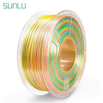 SUNLU SILK PLA 3D Filament 1 75MM PLA Filament jedwabna tekstura 3D materiały do drukowania 1KG ze szpulą tanie i dobre opinie CN (pochodzenie) solid Silk Filament SUNLU Silk Rainbow Filament Silk Texture 3D Printing Filament 200-230℃ 15 colors