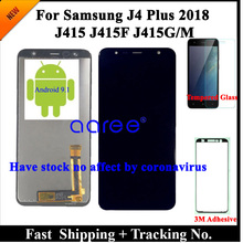 100% Test wyświetlacz LCD do Samsung J4 Plus LCD J4 Plus J415 lcd do samsunga J610 J6 Plus ekran dotykowy digitizer montaż