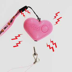 Alarm Alarm-Heart-Shaped Portable Women Student with Lighting Wolf 25g
