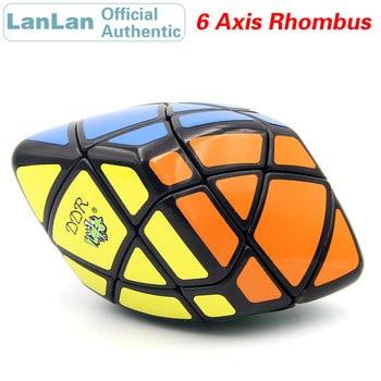 LanLan 6 Axis Rhombus Magic Cube Hexahedron Diamond Speed Puzzle Antistress Brain Teasers Educational Toys For Children yongjun diamond symbol 3x3x3 magic cube yj 3x3 professional neo speed puzzle antistress fidget educational toys for children