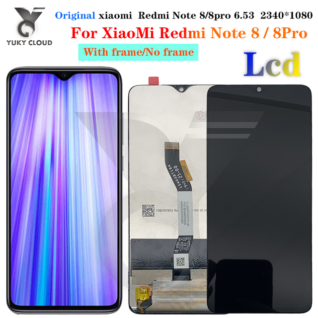for Redmi Note 8 Pro Display LCD with Frame Touch Screen Replacement on for Xiaomi Redmi Note 8 Note8 Pro Global Display LCD