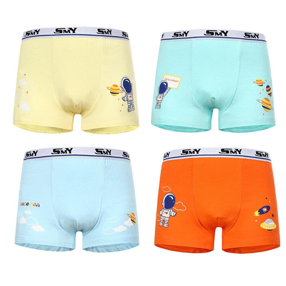 4 Pcs/ Boys Underwear Kids Teen Panties Cartoon Boy Boxers Cotton Stripes  Teenager Underpants Children's Shorts Panties For Baby - Mega Discount  #293A30 | Cicig