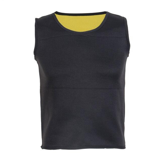 Men's Waist Trainer Vest Sauna Sweat Body Shaper Tank Top Slimming Trimmer Shirt 4