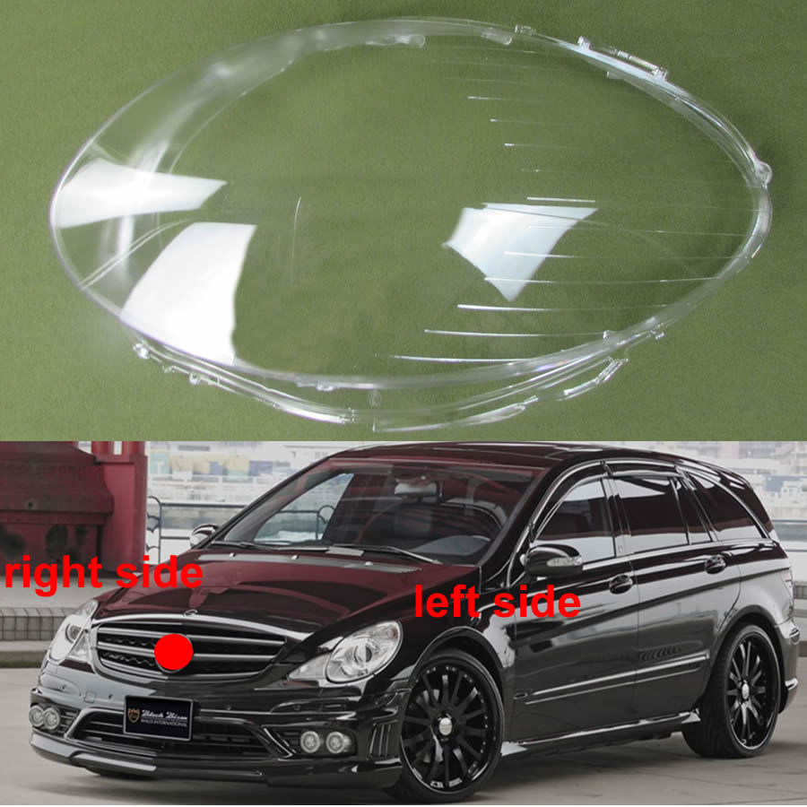 For 2006 2007 2008 Mercedes Benz R-class W251 R350 R500 Headlamp Cover Lens Glass Lamp Cover Headlight Transparent Lampshade