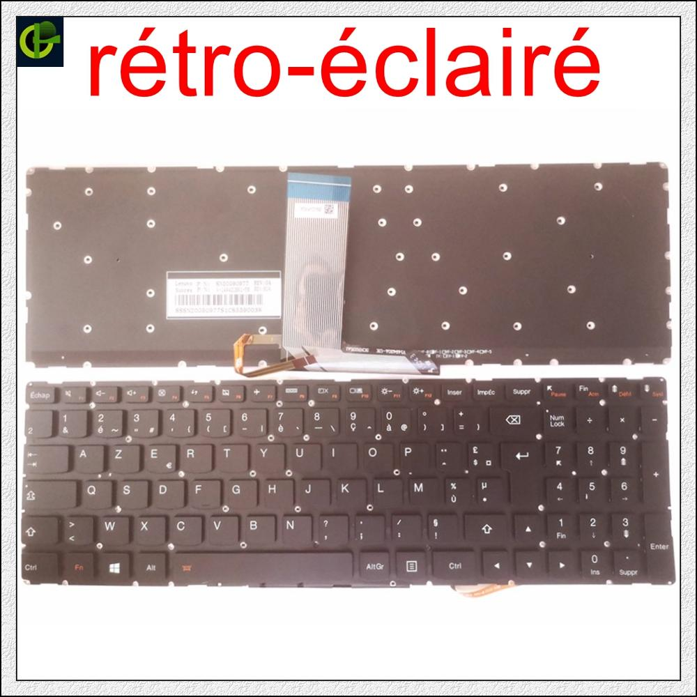 French Backlit Azerty Keyboard For Lenovo IdeaPad 700 15 15ISK 17 700-15 700-15ISK 700-17ISK 700-17 700-15-ISE 700-15-IFi FR