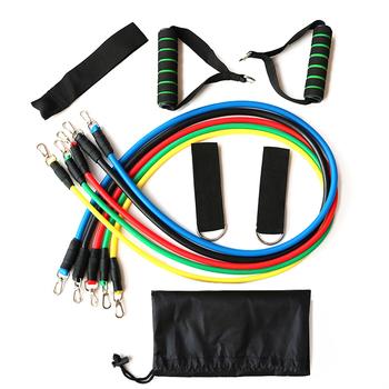 11 sztuk Fitness ciągnąć linę taśmy oporowe lateksowe wytrzymałość wyposażenie siłowni domu elastyczne ćwiczenia ciała Fitness sprzęt treningowy tanie i dobre opinie Fitness Pull Rope Resistance Bands Other Kompleksowe fitness ćwiczenia