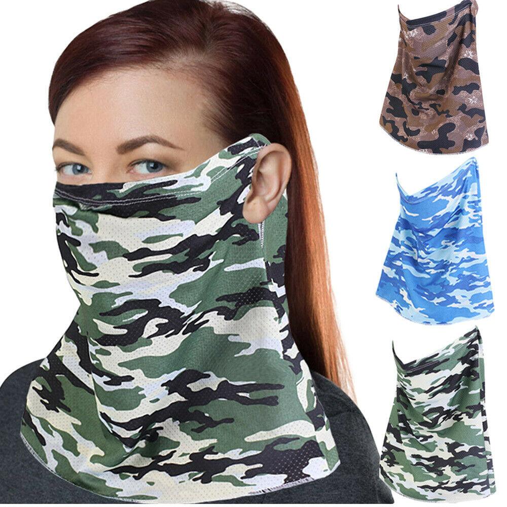 Camouflage Balaclava Veil Scarf Half Face Neck Cover Niqab Nikab Bandana Headwear Hat Outdoor Sunscreen Headscarf Unisex