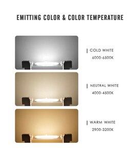 Image 5 - LED R7S szklana rurka żarówka COB 78MM 8W 118MM 13W R7S żarówka Corn J78 J118 zastąpić światło halogenowe 50W 90W AC 220V 230V Lampadas
