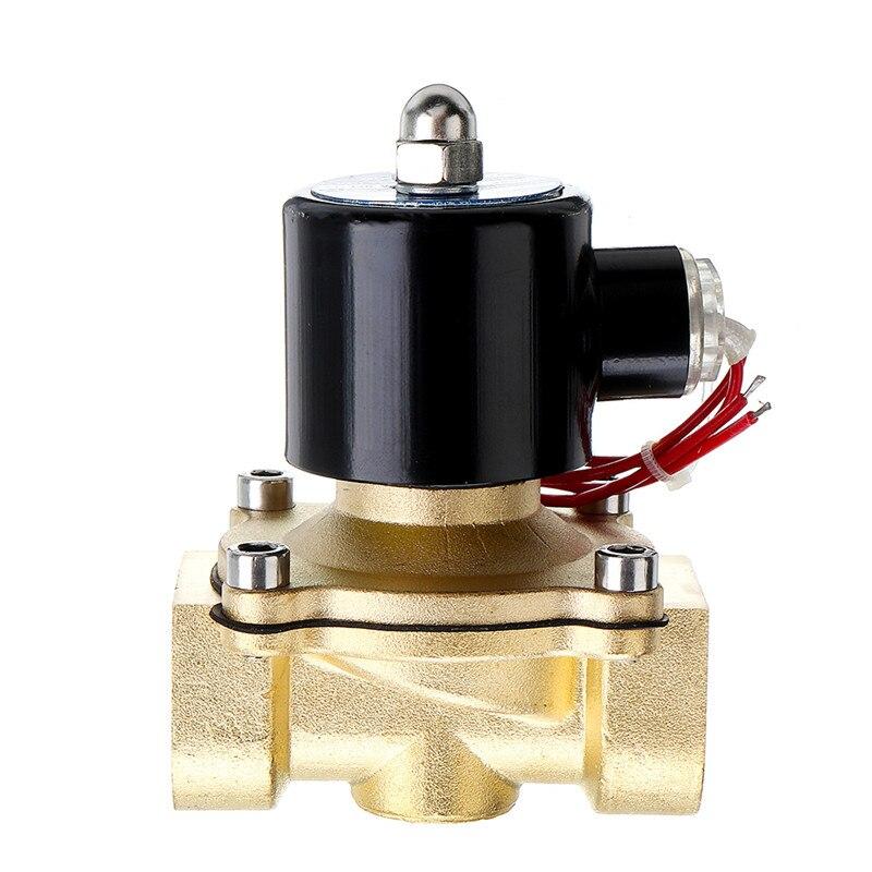 1/2 3/4 1 pulgada DC 12V válvula de solenoide eléctrica válvula neumática DN8 DN10 DN15 DN20 DN25 para aire de agua válvula de latón a Gas nueva