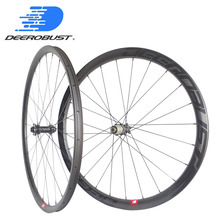 1464g Deercycles 700C 38mm Asymmetric Carbon Bike Wheelset Tubeless Clincher Road Disc Cyclocross CX Wheels Novatec D411CB 412CB factory sales disc brake hub carbon wheels clincher tubular chinese cyclocross bike wheels 24 38 50 88mm 700c carbon wheelset