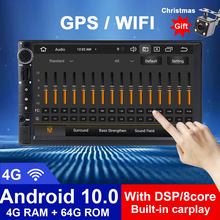 GPS Navigation Multimedia-Player Autoradio Audio Universal Android10 2-Din Screen Stereo