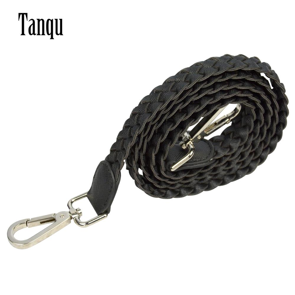 2019 Tanqu 1 Piece Leather PU Weave Length Handle With Buckle For Classic Mini Obag Handles For O Bag For Handbag Women's Bags