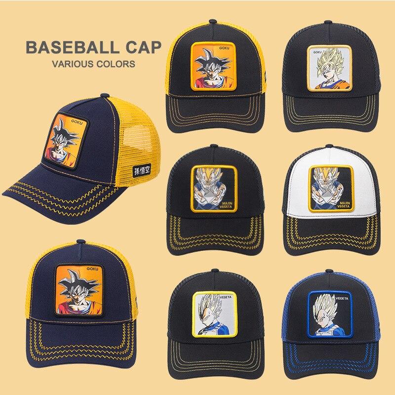 Hot Brand Goku Super 12 Styles Dragon Ball Snapback  Cotton Baseball Cap Men Women Hip Hop Dad Mesh Hat Trucker Hat Dropshipping