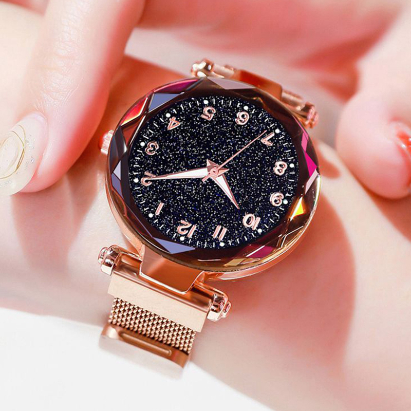 Dropshipping Luxury Women Watches Magnetic Starry Sky Female Clock Quartz Wristwatch Fashion Ladies Wrist Watch Reloj Mujer