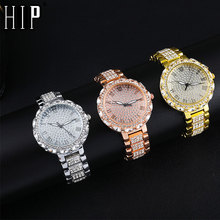 Hip Hop Iced Out Watches Luxury Quartz Wrist Mens Date With Micropave CZ Alloy Watch For Women Men Jewelry
