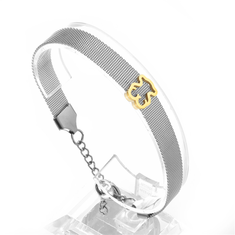 Fashion Bangle Bracelet Jewelry for Women Girls Stainless Steel Bear New Design Gifts Accessories very cheapest price