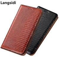 Business Style lizard pattern genuine leather phone bag for Xiaomi Redmi 8/Xiaomi Redmi 8A phone case credit card holder funda