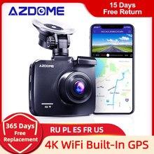 AZDOME 4K 2160P double objectif intégré GPS WiFi FHD 1080P avant + VGA arrière caméra voiture DVR enregistreur GS63H Dash Cam Vision nocturne