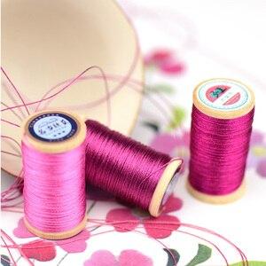 Рулон 0,3 мм нейлоновая плетеная проволока ручной работы нить для вышивки кисточки линия 50 м высокая прочность 3 нити нить кисточка линия Magent