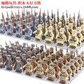 24 teile/los Mini Militär Fakten Bausteine Set Deutsch Soldaten Pistolen Usa Britischen Russische Waffen Armee Ziegel Kid Spielzeug