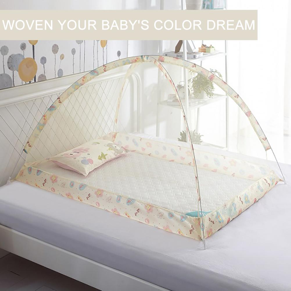 Bottomless Mosquito Net Baby Anti-mosquito Dustproof  Windproof  Bed Net Free Dome Manual Operation Installation Nets