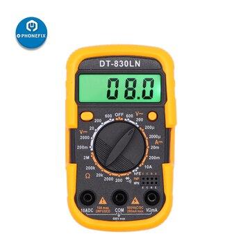 PHONEFIX DT-830LN Handheld LCD Digital Multimeter AC/DC Voltage Meter Amp Current Resistance Tester LCD Backlight Meter