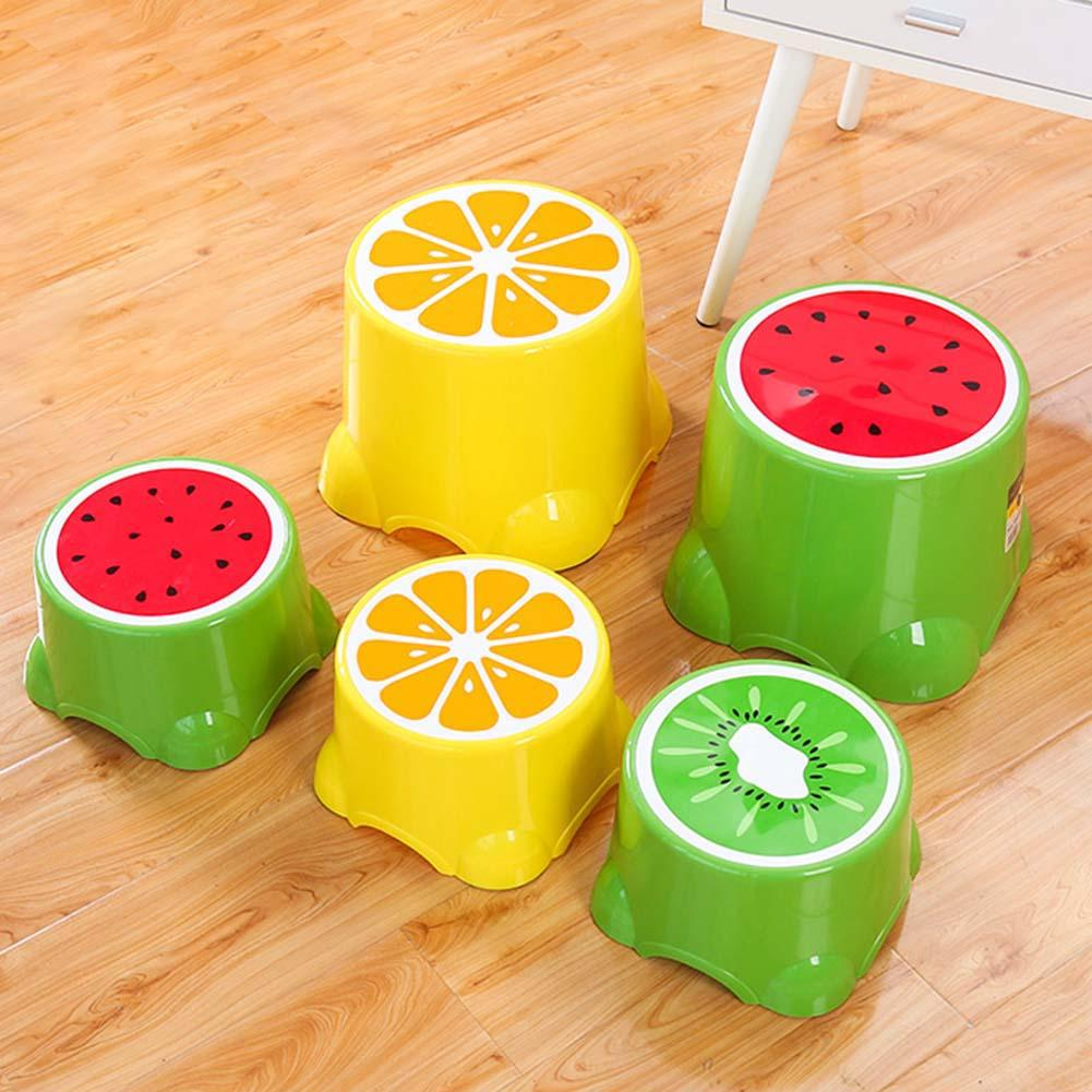Safe Durable Plastic Foot Stool For Kids Cartoon Fruit Pattern Anti-Slip Foot Stools Baby Children Toilet Bathroom Footstool
