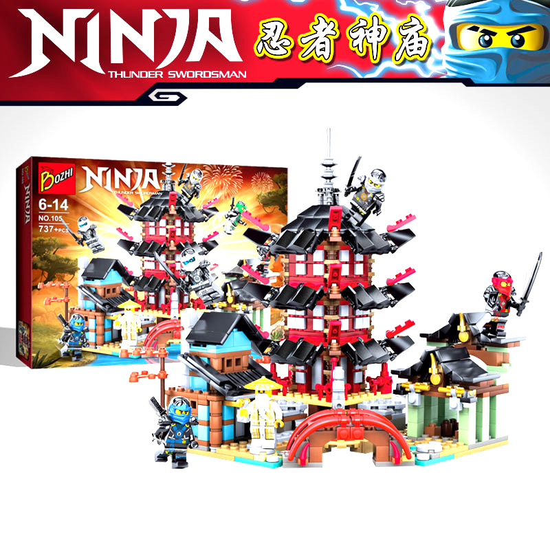 2019 Newest Ninja Temple Dragon Action Figures Building Block Toys Compatible With Legoinglys City Bricks Toys For Children
