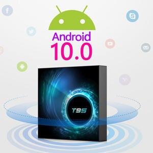 Set-Top-Box Media-Player Iptv Wifi Bluetooth Quad-Core Latest Android-10 6k T95 4g 32GB