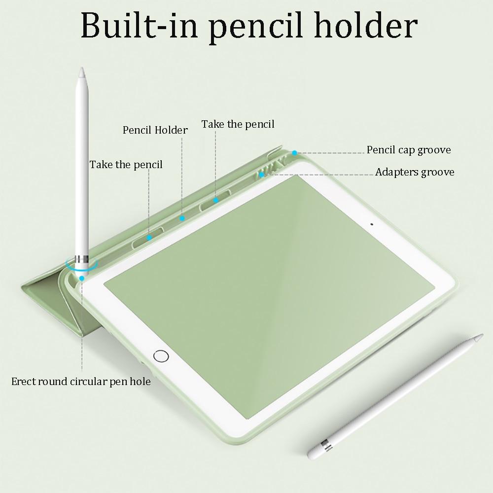 With Pencil Holder For iPad AIR 3 10.5 Pro 11 2020 Air 4 10.9 2018 9.7 6th 7th 8th Generation Case 10.2 2019 Mini 5 Funda Capa-1