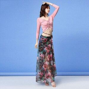 Image 5 - 2019 nowa jakość zestaw do tańca brzucha bellydance pratice odzież orientalny zestaw do tańca gaza 3 rodzaje metod noszenia