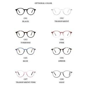Image 4 - TANGOWO TR90 Glasses Frame Women Retro Round Prescription Eyeglasses 2020 Design Fashion Men Black Optical Myopia Eyewear CP1007